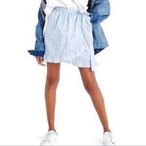 Madewell Ruffle Wrap Mini Skirt 0